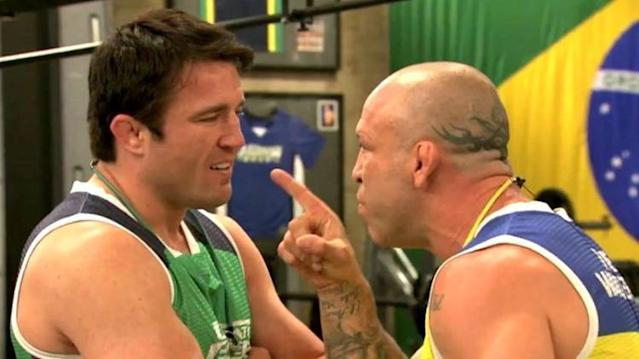 Chael Sonnen and Wanderlei Silva had a contentious relationship when they were coaches on 'TUF'.