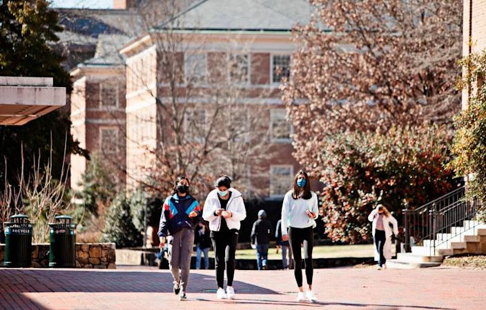 UNC began in-person classes Monday, Feb. 8, 2021, after delaying them three weeks because of the rising numbers of COVID-19 cases and hospitalizations across the state.