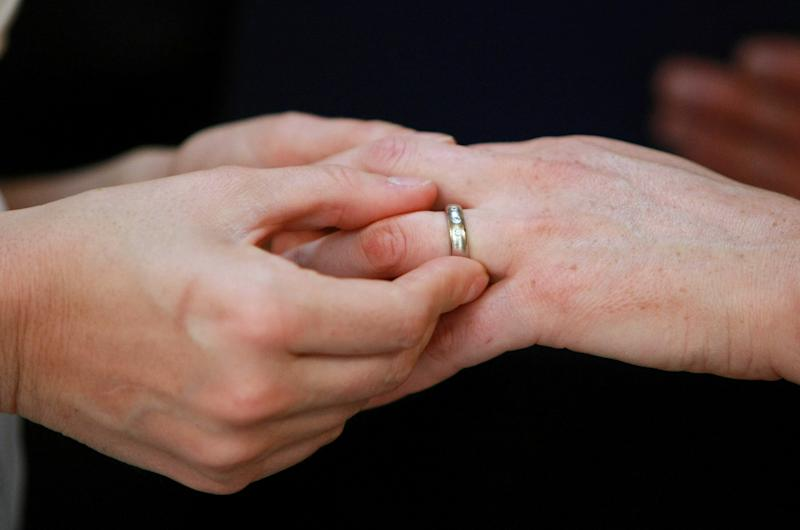 Activists say a lesbian couple have tied the knot in Russia, where gay unions are illegal