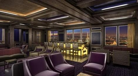 The lounge that lets you look out onto a new city every day. (DCL)