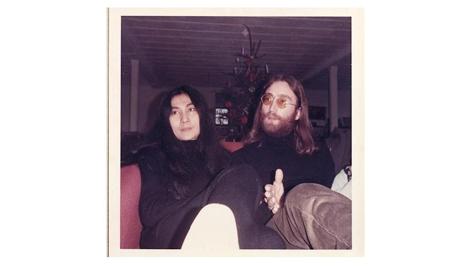 A photo of John Lennon and Yoko Ono at the press conference - Credit: Bruun Rasmussen
