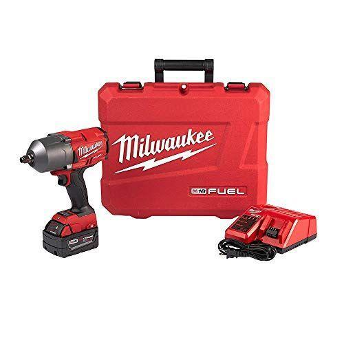 """<p><strong>MILWAUKEE'S</strong></p><p>amazon.com</p><p><strong>$499.97</strong></p><p><a href=""""https://www.amazon.com/dp/B07L4R576Y?tag=syn-yahoo-20&ascsubtag=%5Bartid%7C10048.g.36620049%5Bsrc%7Cyahoo-us"""" rel=""""nofollow noopener"""" target=""""_blank"""" data-ylk=""""slk:Shop Now"""" class=""""link rapid-noclick-resp"""">Shop Now</a></p><p>Ah yes, the strength of power tools. This is one of the best impact wrenches around, and the experts at <em>Popular Mechanics</em> and <em>Car and Driver</em> agree. With 1400 pound-feet of breaking power, this beast is more than capable of loosening stubborn fasteners. The kit comes with a 5.0Ah battery, charger, and nice carrying case.</p>"""