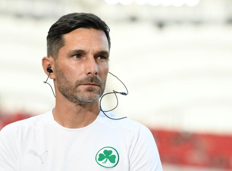 Greuther Fuerth head coach Stefan Leitl says his side must show 'courage' against Bayern Munich in Friday's David versus Goliath Bundesliga clash (AFP/THOMAS KIENZLE)
