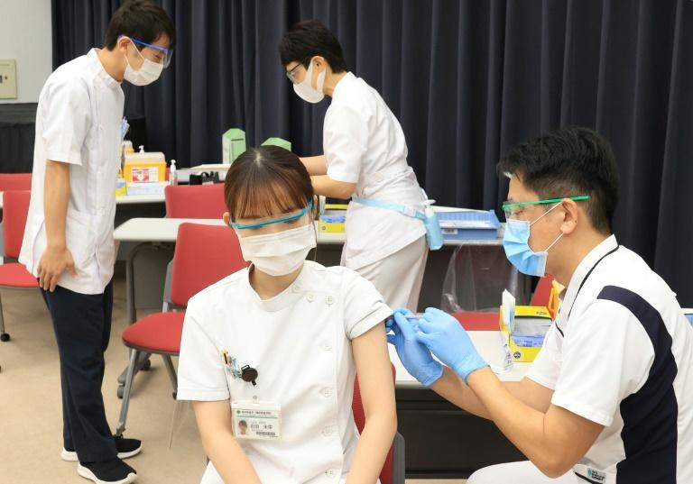 Japan began its vaccination programme in a limited fashion on February 17 and has so far given first doses to around 39,000 healthcare workers