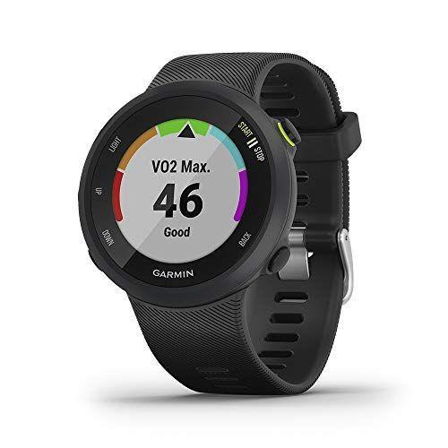 """<p><strong>Garmin</strong></p><p>amazon.com</p><p><strong>$149.99</strong></p><p><a href=""""https://www.amazon.com/dp/B07R2YWVW8?tag=syn-yahoo-20&ascsubtag=%5Bartid%7C10049.g.35154852%5Bsrc%7Cyahoo-us"""" rel=""""nofollow noopener"""" target=""""_blank"""" data-ylk=""""slk:BUY IT HERE"""" class=""""link rapid-noclick-resp"""">BUY IT HERE</a></p><p>Garmin's Forerunner 45 watch is like having an on-demand personal virtual. Not only does it use Garmin's signature GPS technology to track all your stats, from distance to pace, but it's also compatible with the brand's free coach adaptive training plans to encourage you to go the extra mile.</p>"""