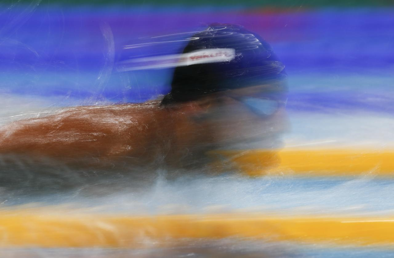 Swimming – 17th FINA World Aquatics Championships – Men's 200m Butterfly Preliminary – Budapest, Hungary – July 25, 2017 – Rami Anis of Syria competes. REUTERS/Laszlo Balogh