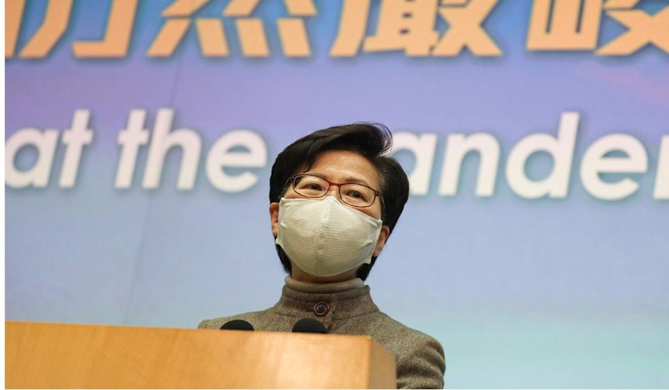 Chief Executive Carrie Lam has shot down the idea of paying Hongkongers to take the coming Covid-19 vaccination jabs. Photo: Nora Tam