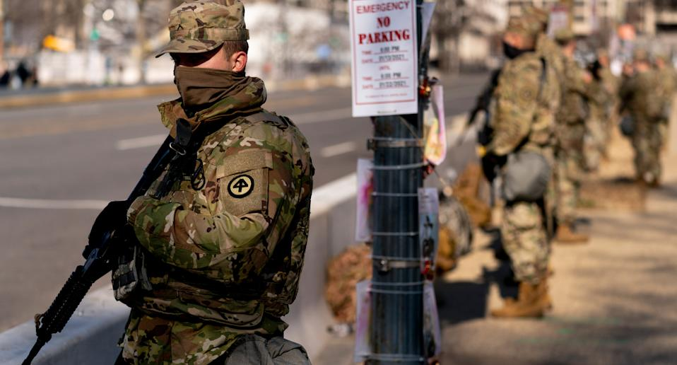 Up to 20,000 National Guard troops have been deployed to Washington for the inauguration. Source: AAP