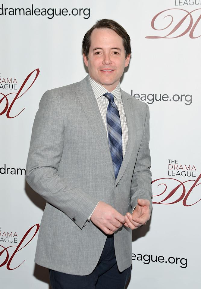 NEW YORK, NY - MAY 18:  Actor Matthew Broderick attends the 78th annual Drama League Awards Ceremony and Luncheon at the Marriott Marquis Times Square on May 18, 2012 in New York City.  (Photo by Mike Coppola/Getty Images)