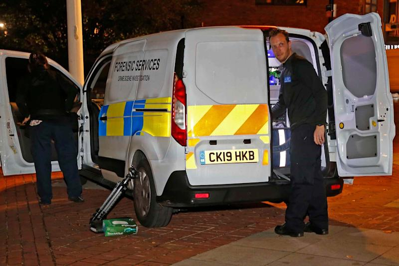 The victim was pronounced dead in hospital an hour after the attack (NIGEL HOWARD)