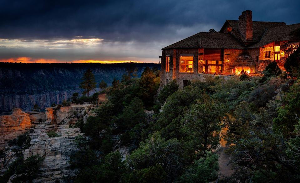 The Grand Canyon North Rim Lodge offer unparalleled views of the canyon.