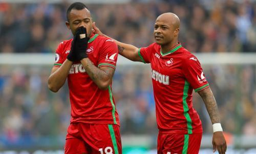 Huddersfield unable to break down Swansea despite Jordan Ayew dismissal
