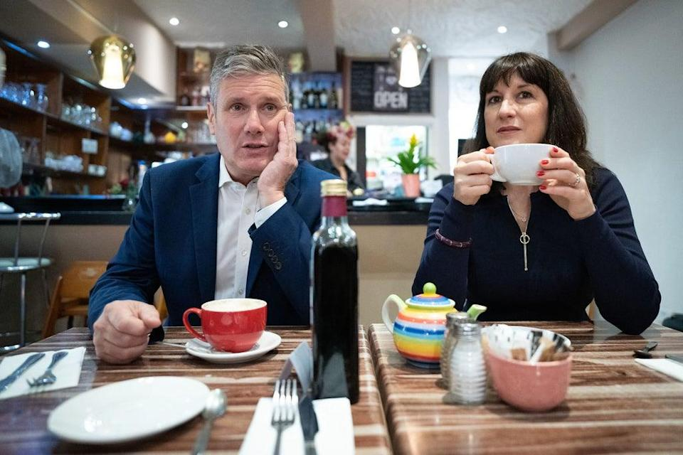Labour Party leader Sir Keir Starmer and shadow chancellor Rachel Reeves (Stefan Rousseau/PA) (PA Wire)