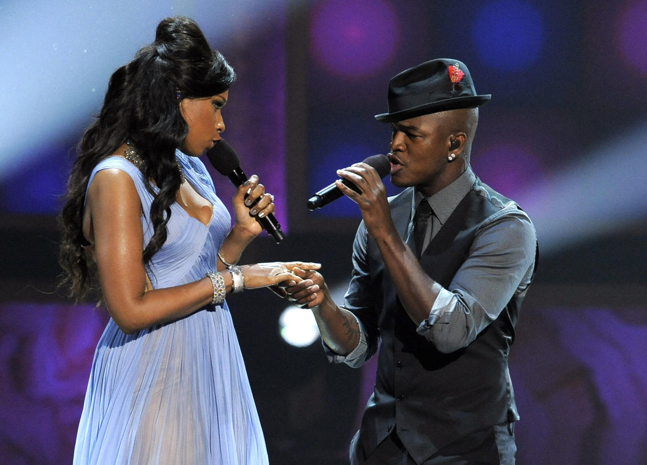 Jennifer Hudson, left, and Ne-Yo perform at the 43rd NAACP Image Awards on Friday, Feb. 17, 2012, in Los Angeles. (AP Photo/Chris Pizzello)