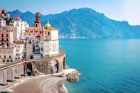 """The goat is ruled by Saturn, the taskmaster of all planets, which makes this sign determined and ambitious. """"I imagine them wandering up and down the cliffs of the hilly <a href=""""https://www.cntraveler.com/gallery/reasons-to-visit-italys-amalfi-coast?mbid=synd_yahoo_rss"""" rel=""""nofollow noopener"""" target=""""_blank"""" data-ylk=""""slk:Amalfi Coast"""" class=""""link rapid-noclick-resp"""">Amalfi Coast</a>,"""" says White, noting how the outdoors are a tonic for this serious sign. The physical demands of summiting peaks along the storied Sorrentine Peninsula will give Capricorns a sense of accomplishment, while also inviting them to """"let loose and relax."""" The history and culture of Southern Italy, meanwhile, will appeal to the goat's emotional sensibilities. """"It's a sense of sanctuary,"""" says White. """"Caps like knowing that other people have been there before them; they take great comfort in the past."""""""