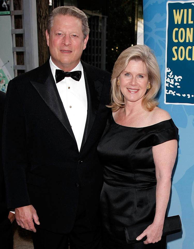 "NEW YORK - JUNE 03:  Vice President and Nobel Prize Winner Al Gore and wife Tipper Gore attend the Wildlife Conservation Society's ""Safari! India"" Gala Honoring David T. Schiff at the Central Park Zoo on June 3, 2008 in New York City.  (Photo by Jemal Countess/WireImage)"
