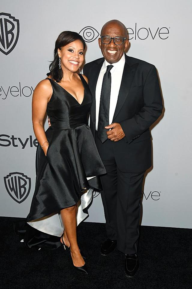 <p>TV personalities Sheinelle Jones and Al Roker at the Warner Bros. and InStyle party. (Photo: Frazer Harrison/Getty Images) </p>