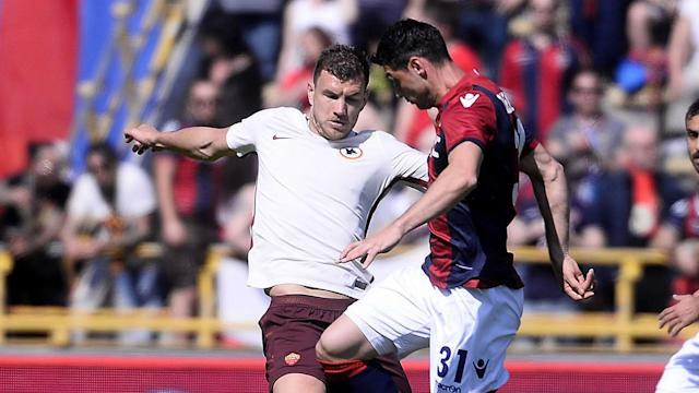 Roma restored the six-point gap to Serie A leaders Juventus on Sunday, largely thanks to an excellent display from star striker Edin Dzeko.