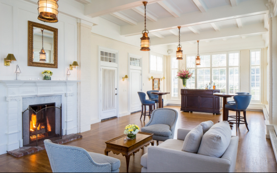 """<p><a href=""""http://www.chathambarsinn.com/"""" rel=""""nofollow noopener"""" target=""""_blank"""" data-ylk=""""slk:Chatham Bars Inn"""" class=""""link rapid-noclick-resp"""">Chatham Bars Inn</a> is the place to stay if you like your lobster rolls served with a side of swank, especially after the property's recent $100 million renovation, which preserved the historic elements (leaded-glass interior windows, coffered ceilings) while adding modern features such as a spa with steam showers, dry saunas, and whirlpool tubs. In the off-season, book a clapboard cottage with bay windows so you can sip hot cocoa on the deck or curl up by the fire with a book from the wood-paneled library. (Photo: © Chatham Bars Inn)</p>"""