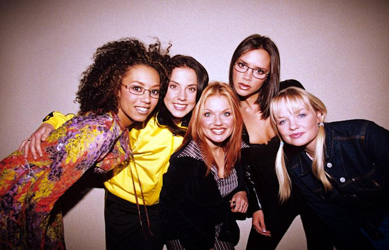 The Spice Girls - Melanie B, Melanie C, Geri Halliwell, Victoria Adams And Emma Bunton, The Spice Girls - Melanie B, Melanie C, Geri Halliwell, Victoria Adams And Emma Bunton (Photo by Brian Rasic/Getty Images)