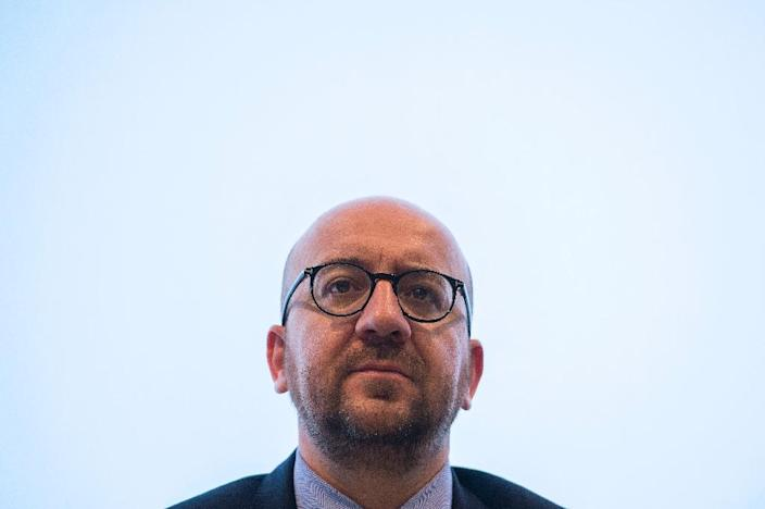Belgian Prime Minister Charles Michel did not rule out that the terror alert in Brussels could be raised to the highest level (AFP Photo/Laurie Dieffembacq)