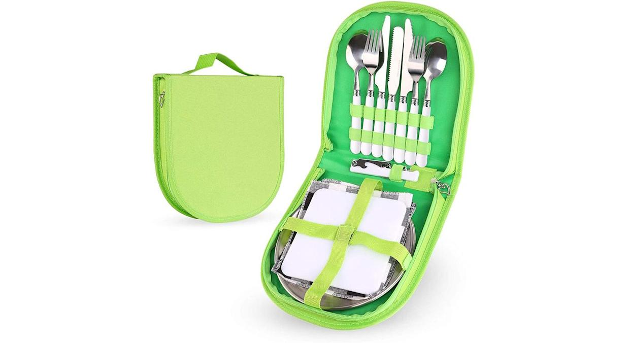 Odoland Stainless Steel Camping Cutlery Set