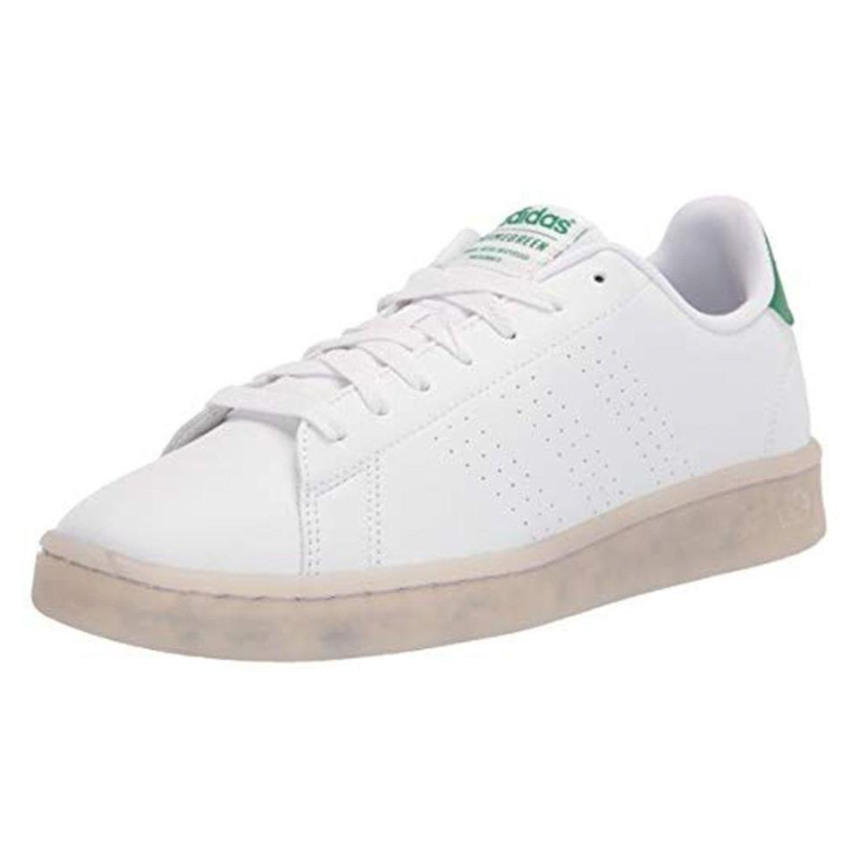 """<p><strong>adidas</strong></p><p>amazon.com</p><p><strong>$54.24</strong></p><p><a href=""""https://www.amazon.com/dp/B0877B4SNR?tag=syn-yahoo-20&ascsubtag=%5Bartid%7C10054.g.36791822%5Bsrc%7Cyahoo-us"""" rel=""""nofollow noopener"""" target=""""_blank"""" data-ylk=""""slk:BUY IT HERE"""" class=""""link rapid-noclick-resp"""">BUY IT HERE</a></p><p>Every stylish person needs a pair of crisp, white sneakers in their closet. This pair has the look of Adidas' iconic Stan Smiths, but is made with recyclable materials. </p>"""