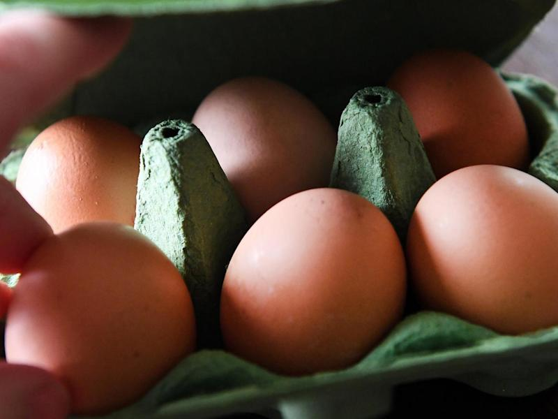 Eggs from a supermarket in London, Britain (EPA)