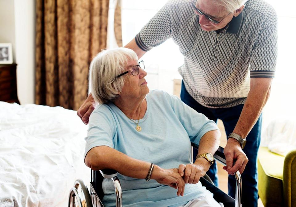 """<span class=""""caption"""">Older caregivers report unprecedented and unrelenting levels of responsibility, stress and isolation due to COVID-19 and pandemic-related protocols.</span> <span class=""""attribution""""><span class=""""source"""">(Shutterstock)</span></span>"""