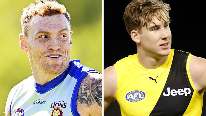 A 50-50 split image shows Mitch Robinson on the left and Tom Lynch on the right.