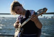 """Nora Brown attends a performing arts-focused high school in Queens, a balancing act that sometimes requires """"tricky decisions"""" between perfect attendance and concert appearances (AFP/Angela Weiss)"""