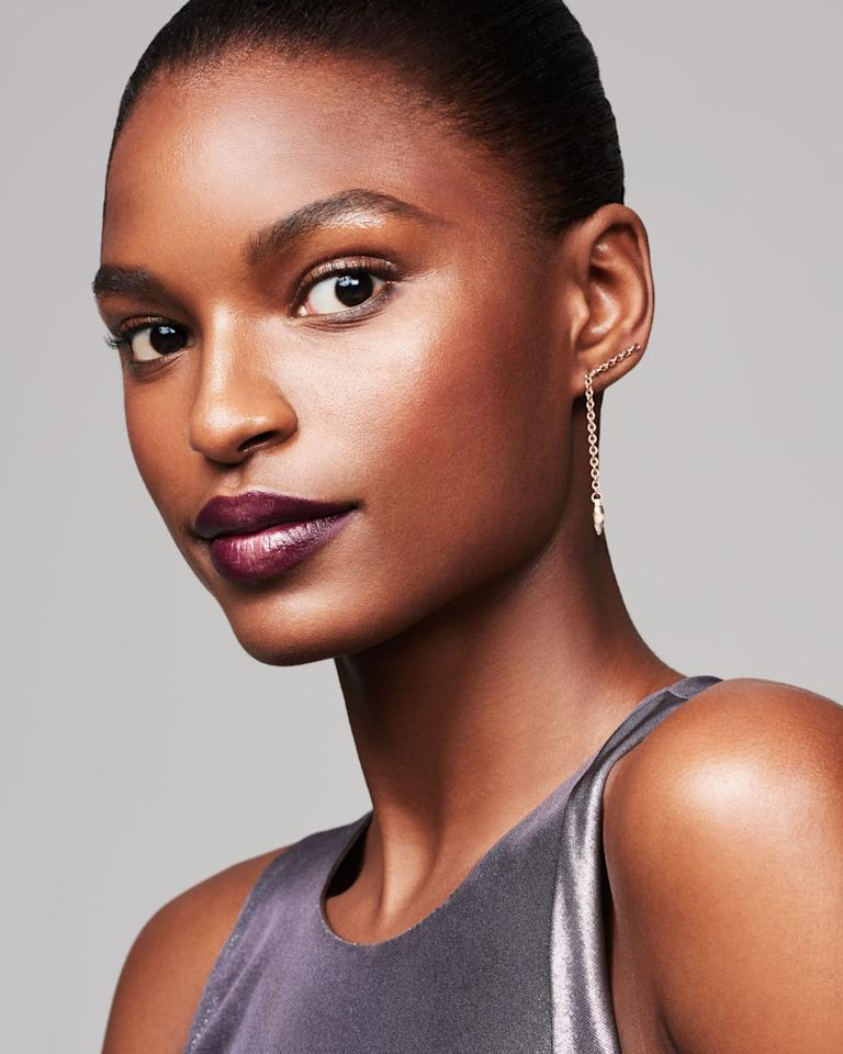 """<p>Highlighted cheekbones and shiny lids complement a glittering lip, but a matte T-zone is key for balance. Pat luminizer on the high points of your cheeks, and stroke balm, salve, or eye gloss from your lash line to just below your brow bone. Finish by dusting your forehead, nose, and chin with translucent powder. The tasteful combo of color and glow is """"luxurious and ideal for going from office to evening,"""" says Melluso. </p>"""