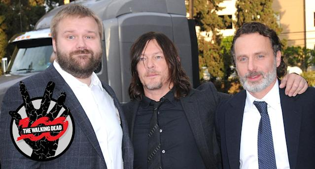 Robert Kirkman, Norman Reedus, and Andrew Lincoln (Photo: Getty Images)