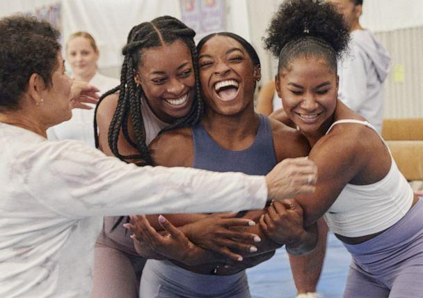 Simone Biles is photographed for Athleta's 'The Power of We'campaign. (Athleta)