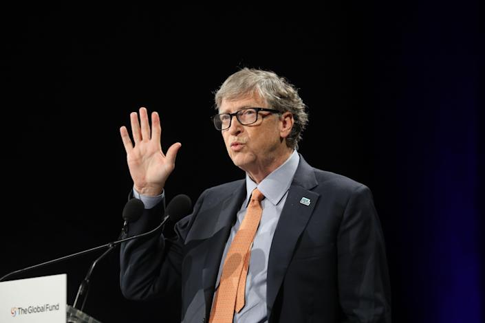 Microsoft founder, Co-Chairman of the Bill & Melinda Gates Foundation, Bill Gates delivers a speech during the conference of Global Fund to Fight HIV, Tuberculosis and Malaria in 2019, in Lyon, France. (Photo: LUDOVIC MARIN/AFP via Getty Images)