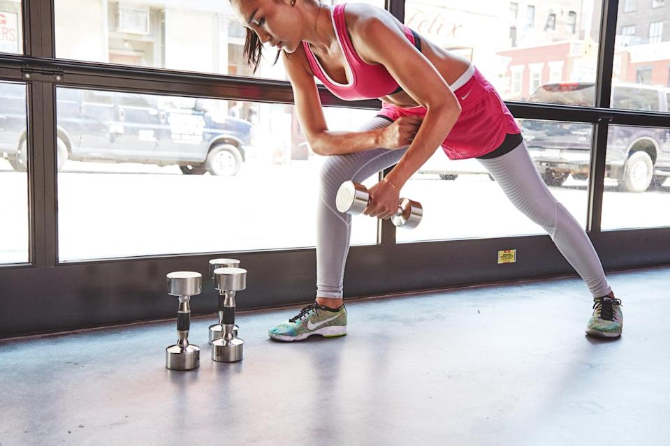 """<p>If you don't feel like trying something new in your exercise regimen, there are still ways to <a href=""""https://www.popsugar.com/fitness/Tips-Improve-Your-Workout-44949541"""" class=""""link rapid-noclick-resp"""" rel=""""nofollow noopener"""" target=""""_blank"""" data-ylk=""""slk:step up your current routine"""">step up your current routine</a>. Adding an extra few minutes to a workout, sprinting at the end of a run, <a href=""""https://www.popsugar.com/fitness/How-Start-Lifting-Heavy-44984046"""" class=""""link rapid-noclick-resp"""" rel=""""nofollow noopener"""" target=""""_blank"""" data-ylk=""""slk:choosing heavier weights"""">choosing heavier weights</a>, or <a href=""""https://www.popsugar.com/fitness/make-exercises-harder-time-under-tension-47485570"""" class=""""link rapid-noclick-resp"""" rel=""""nofollow noopener"""" target=""""_blank"""" data-ylk=""""slk:adding time under tension"""">adding time under tension</a> may make all the difference. </p>"""