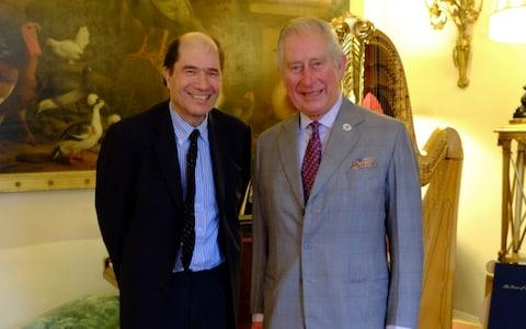 Prince Charles with Private Passions host Michael Berkeley - Credit: BBC