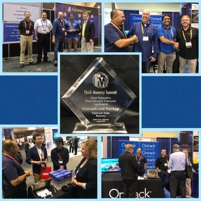 Ontrack wins most Innovative Flash Memory Enterprise Business Application for Best of Show Award at Flash Memory Summit 2019 (PRNewsfoto/Ontrack)