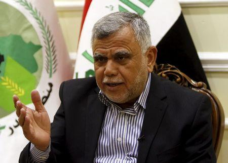 Leader of the Badr Organisation Hadi al-Amiri speaks during an interview with Reuters in Baghdad, January 25, 2016. REUTERS/Ahmed Saad