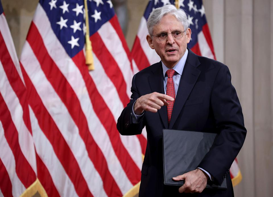 Attorney General Merrick Garland at the Justice Department on June 15, 2021.