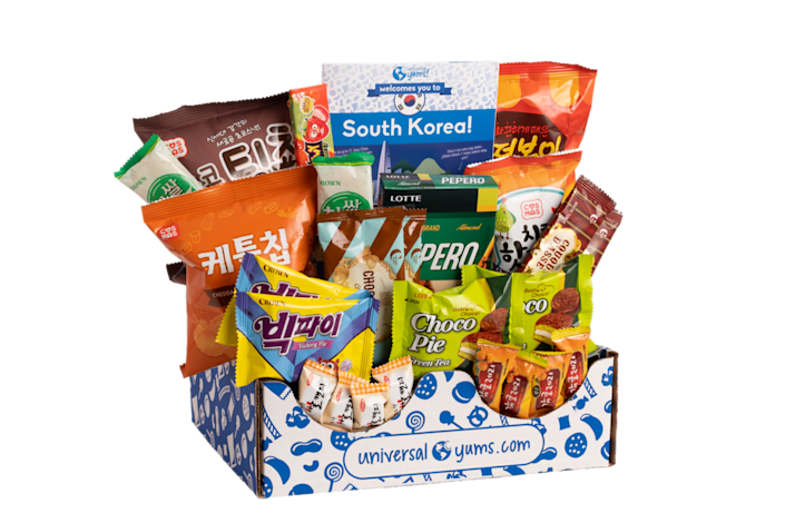 """<p>Universal Yums subscribers travel the world in the best way — through snacks. Each box comes with both sweet and savory treats themed to a different country each month, along with a 12-page booklet with trivia and recipes.</p><p><strong>Price:</strong> Starts at $15/box</p><p><a class=""""link rapid-noclick-resp"""" href=""""https://go.redirectingat.com?id=74968X1596630&url=https%3A%2F%2Fwww.universalyums.com%2F&sref=https%3A%2F%2Fwww.goodhousekeeping.com%2Fholidays%2Fmothers-day%2Fg31992924%2Fbest-subscription-boxes-for-moms%2F"""" rel=""""nofollow noopener"""" target=""""_blank"""" data-ylk=""""slk:BUY NOW"""">BUY NOW</a> </p>"""
