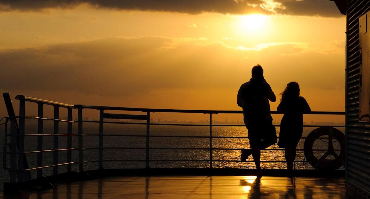 The couple claim their loud love making got them booted from the ship. Source: File/Getty Images