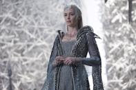 <p>Though she seems welcoming, do not let her soft appearance fool you. With a metallic tiara and icy blue gown, you can transform into the villainous Freya the Ice Queen from <strong>The Huntsman: Winter's War</strong>.</p>