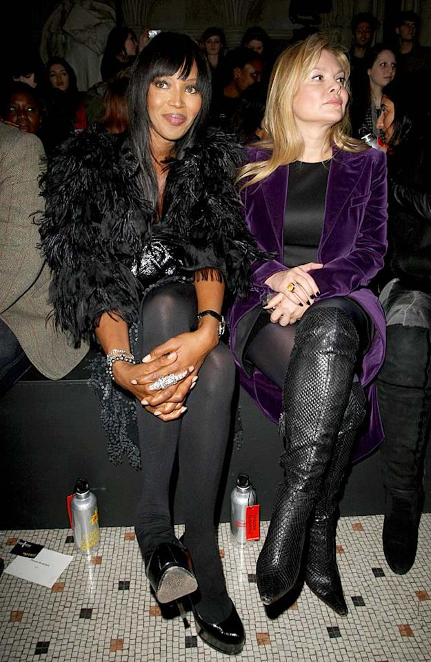 "Naomi Campbell rocked feathers and a funky ring at the Vivienne Westwood Red Label show. Danny Martindale/<a href=""http://www.wireimage.com"" target=""new"">WireImage.com</a> - February 21, 2010"