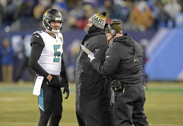 Listen up: the Jaguars need quarter back Blake Bortles to play well, even if Jacksonville isn't leading by a large margin against Buffalo. (AP)