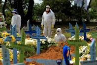Over the past two weeks, Manaus recorded more than 100 burials per day, with a record of 213 on January 15