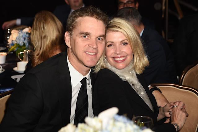 Stacia and Luc Robitaille attended the Habitat LA 2017 Los Angeles Builders Ball at The Beverly Hilton Hotel on September 28, 2017. (Getty)