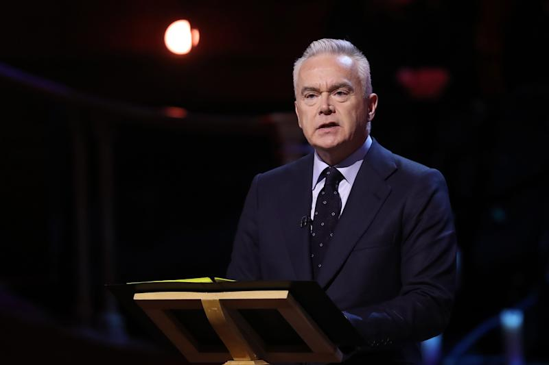 LONDON, ENGLAND - JANUARY 27: BBC newsreader Huw Edwards speaks at the UK Holocaust Memorial Day Commemorative Ceremony in Westminster on January 27, 2020 in London, England. 2020 marks the 75th anniversary of the liberation of Auschwitz-Birkenau. Holocaust memorial day takes place annually on the 27th of January, remembering the liberation of Auschwitz-Birkenau, and honoring survivors of the Holocaust, Nazi Persecution, and subsequent genocides in Bosnia, Cambodia, Rwanda, Darfur. (Photo by Chris Jackson/Getty Images)
