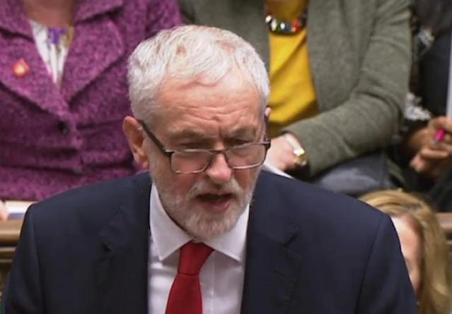 Britain's opposition Labour party leader Jeremy COrbyn called for the no confidence vote (AFP Photo/HO)
