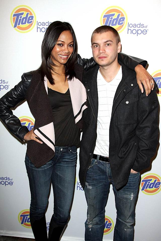 """Zoe Saldana and Emile Hirsch opted for casual denim and black jackets at a screening of the documentary """"Espwa: A Story of Hope in Haiti."""" John Parra/<a href=""""http://www.gettyimages.com/"""" target=""""new"""">GettyImages.com</a> - January 22, 2011"""